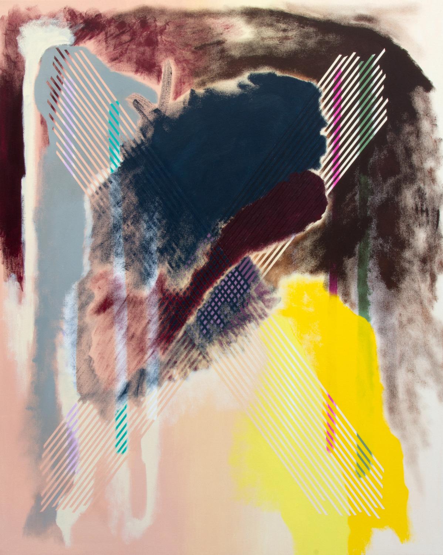 "Dzubas Ex,  2018, acrylic on canvas, 40"" x 50"""