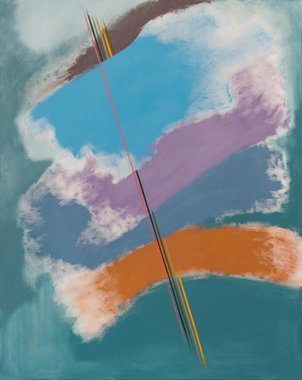 Rusty, 2018, acrylic on canvas, 40 x 50in