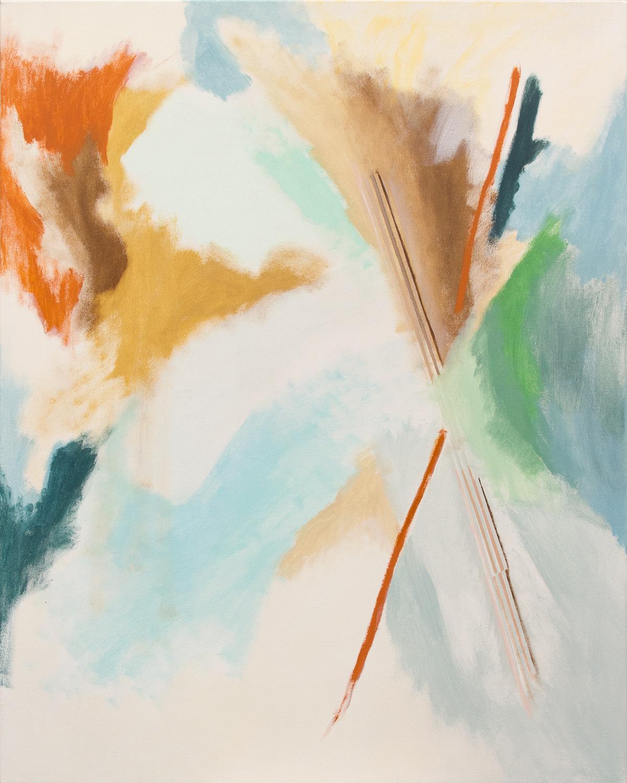 Faint Ex, 2018, acrylic on canvas, 40 x 50in
