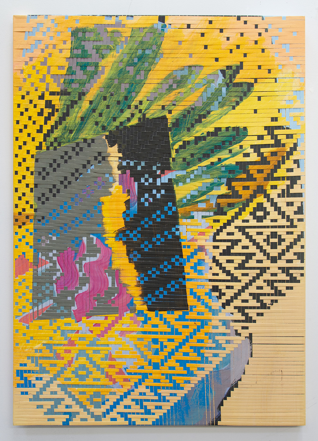pineapple, 2019, woven inkjet print on canvas, 48 x 34in.