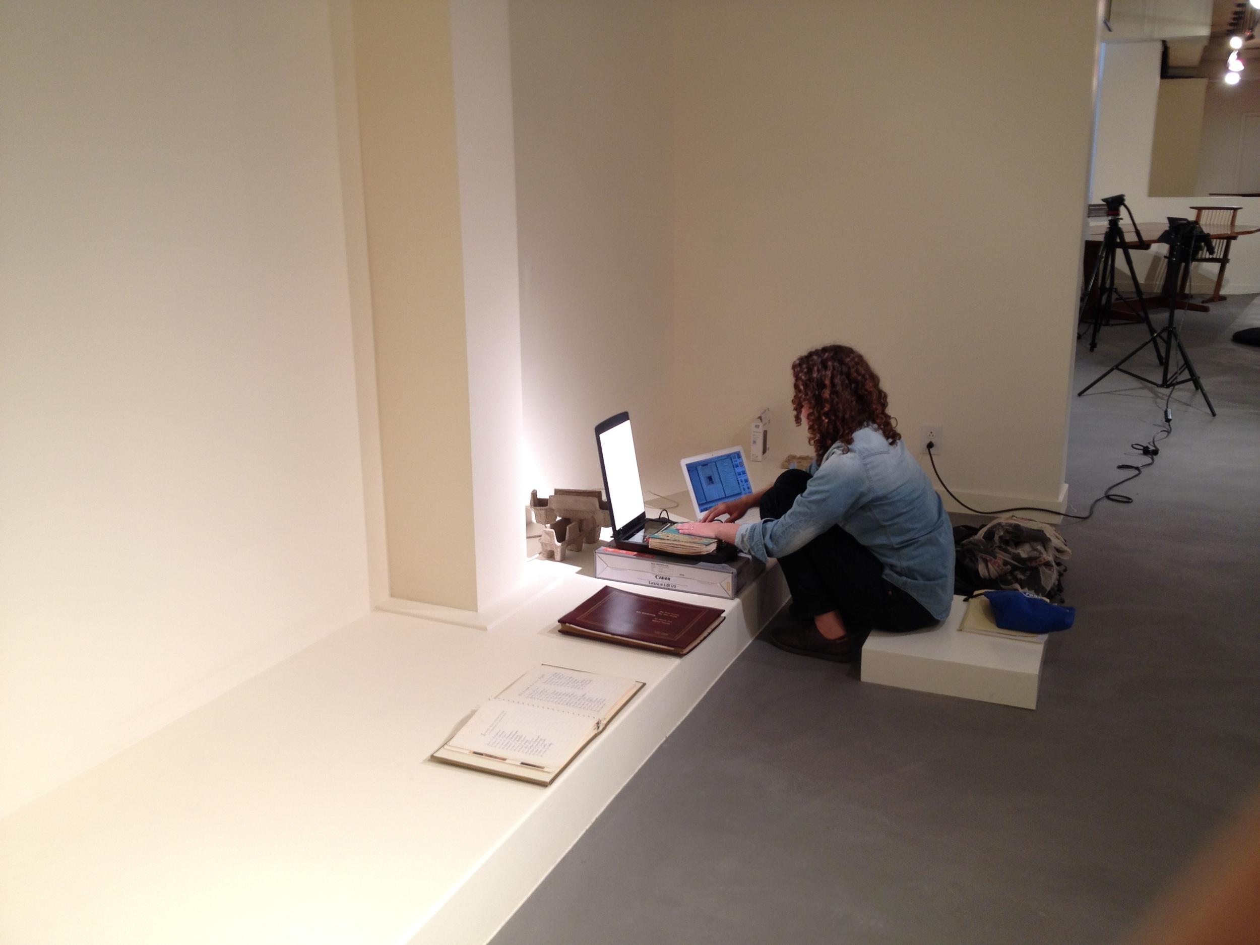 Scanning Photos at Moderne Gallery, Philadelphia