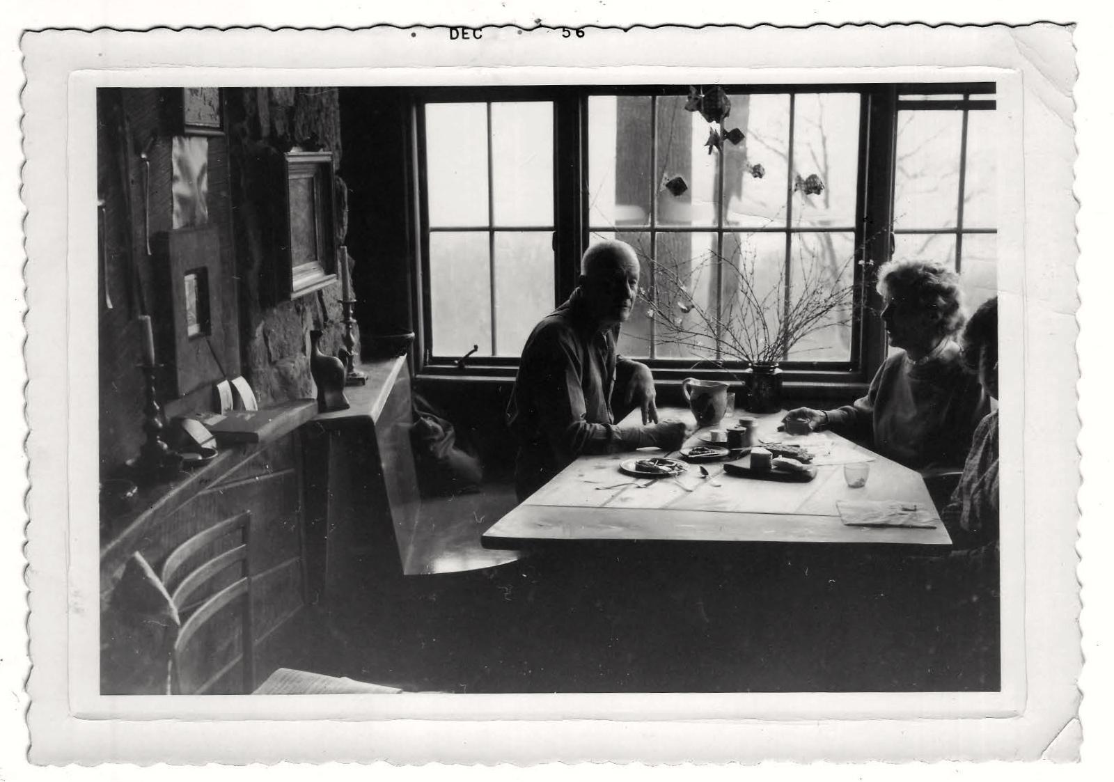 Esherick and Mariam Phillips at Esherick Studio