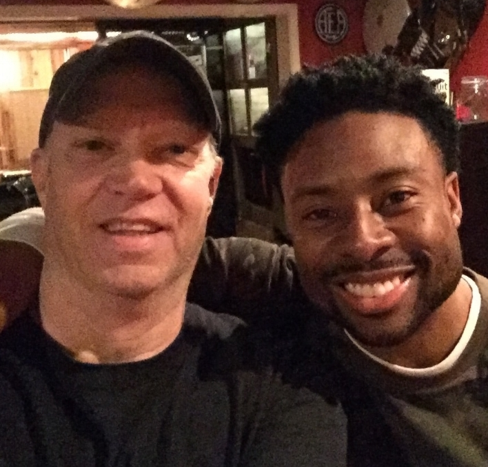 Our very own dB with the awesome Justin Hires
