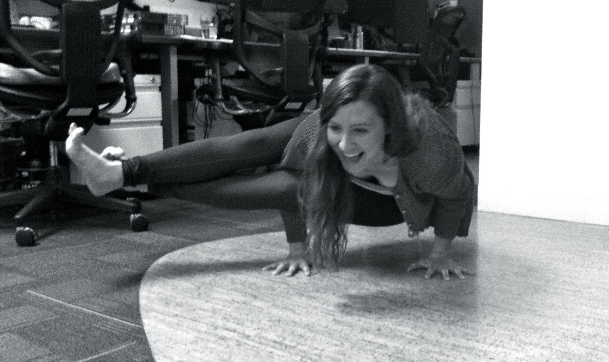 Yoga, at work