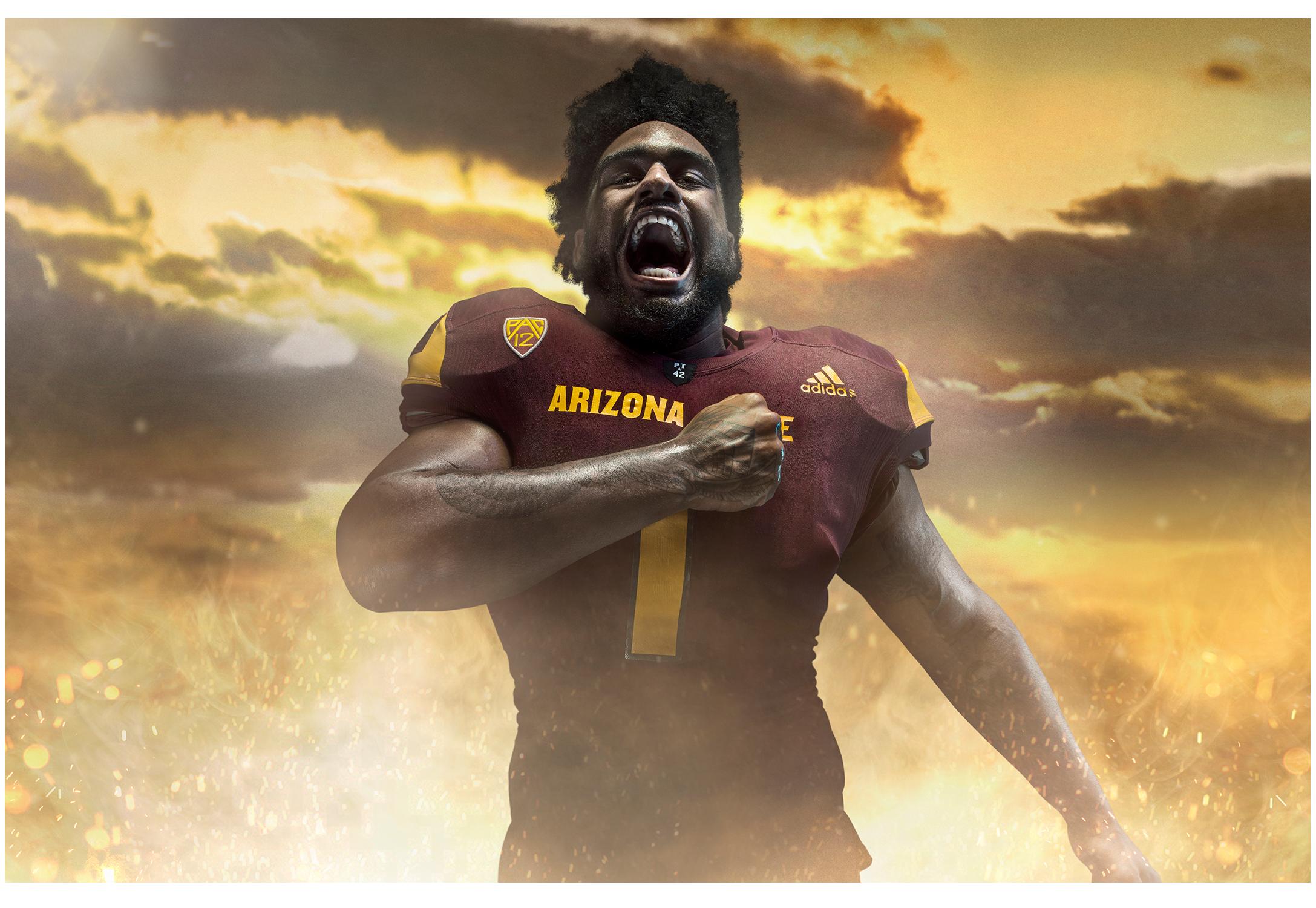 FY18 ASU  SUN DEVIL    FOOTBALL  Photoshoot  Creative + Art Direction  with  photographer   Blair Bunting    cr8@ sun devil athletics, arizona state university
