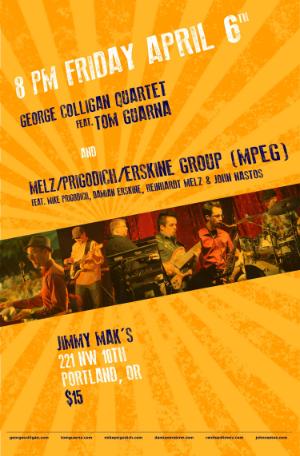 Live Video --  Melz/Prigodich/Erskine Group (MPEG)  + George Colligan Quartet feat. Tom Guarna   -- watch the full show on  AudioGlobe.com