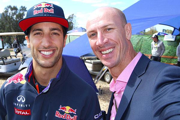 Daniel Ricciardo and IPE Sales Manager 'Parko' pre-race.