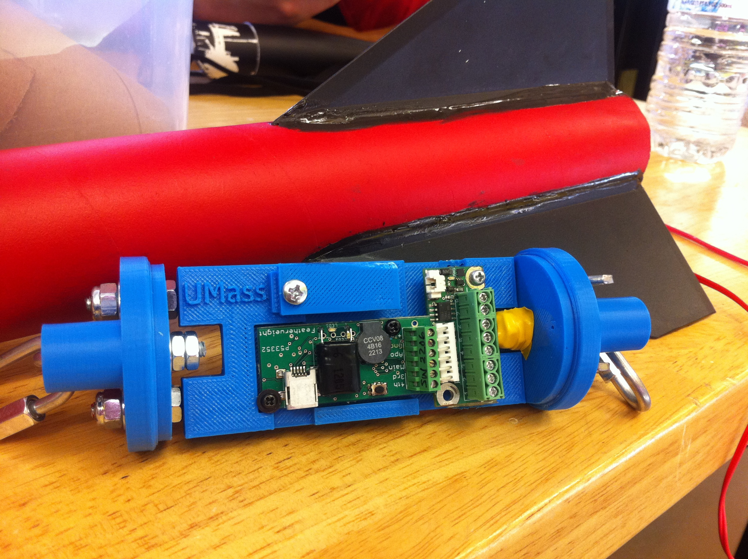 Prototype ABS altimeter bay designed specifically for the Featherweight Raven altimeter