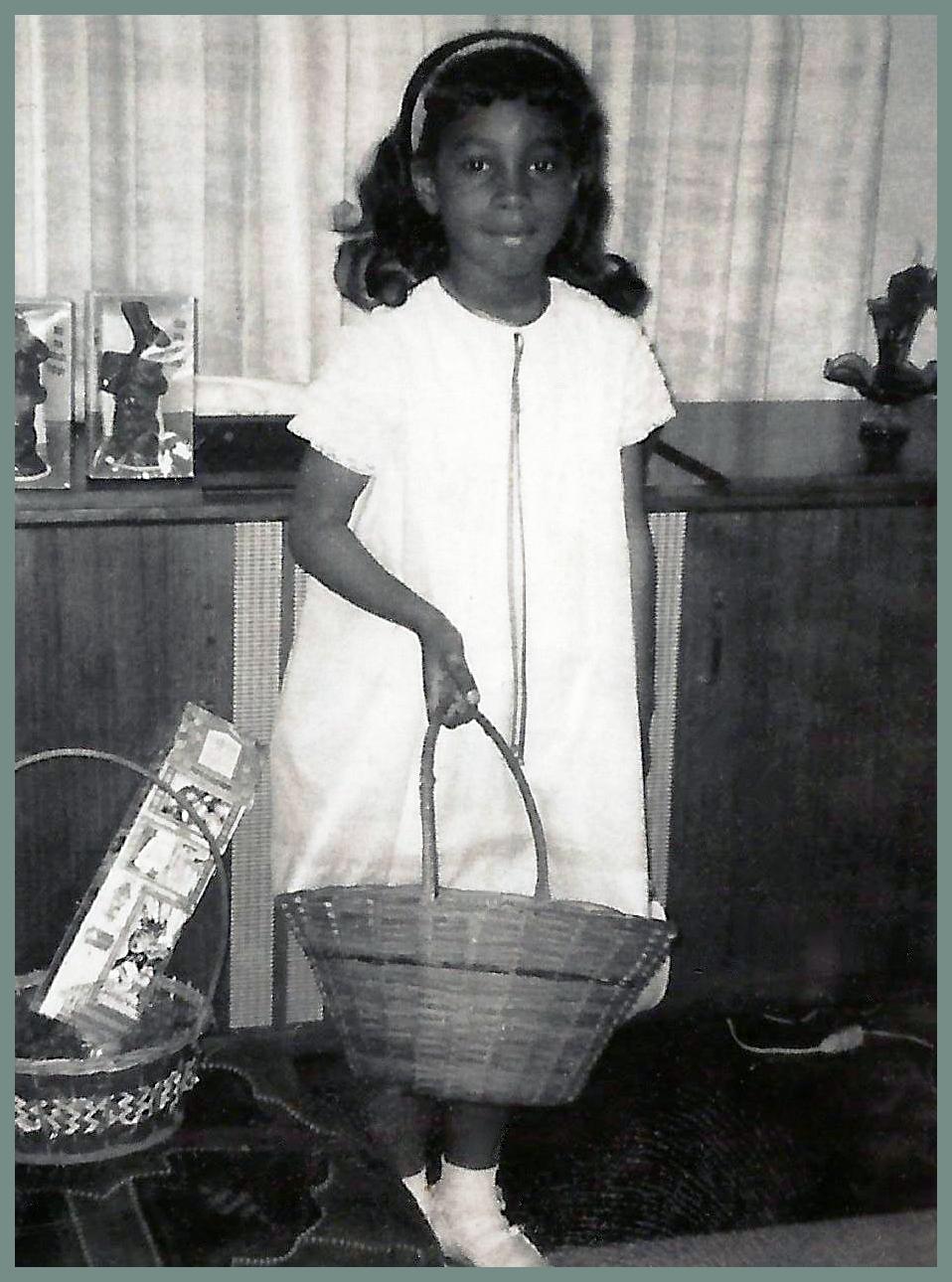 Diane Dillard heading for the Easter egg hunt.