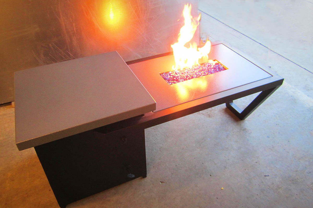 Custom Backyard Fire Table