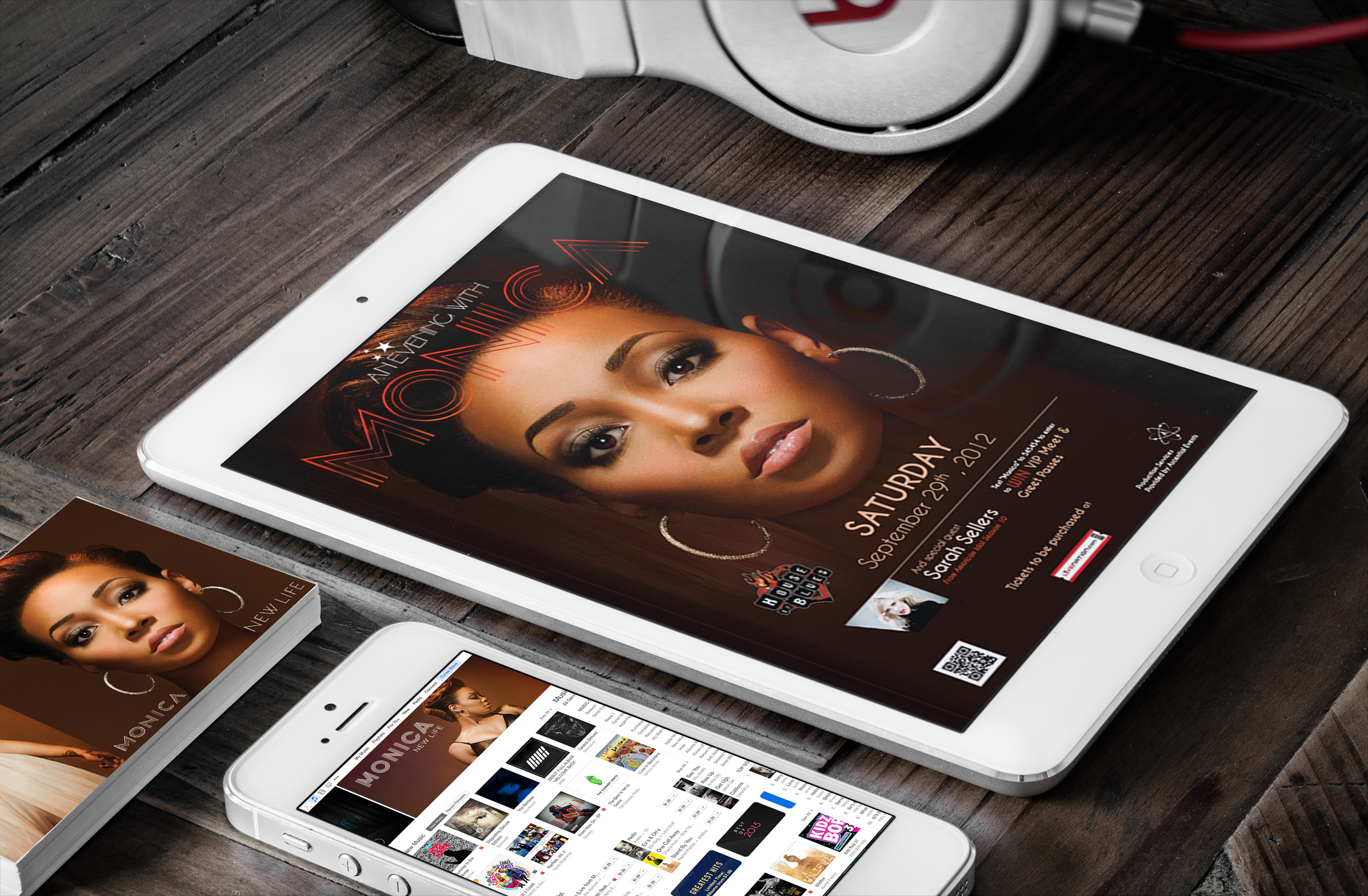 Monica, Grammy nominated R&B Singer Advertising Campaign   Live Nation & The House of Blues
