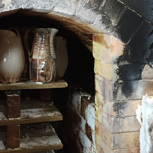 A peak at the first firing of the Soda Kiln