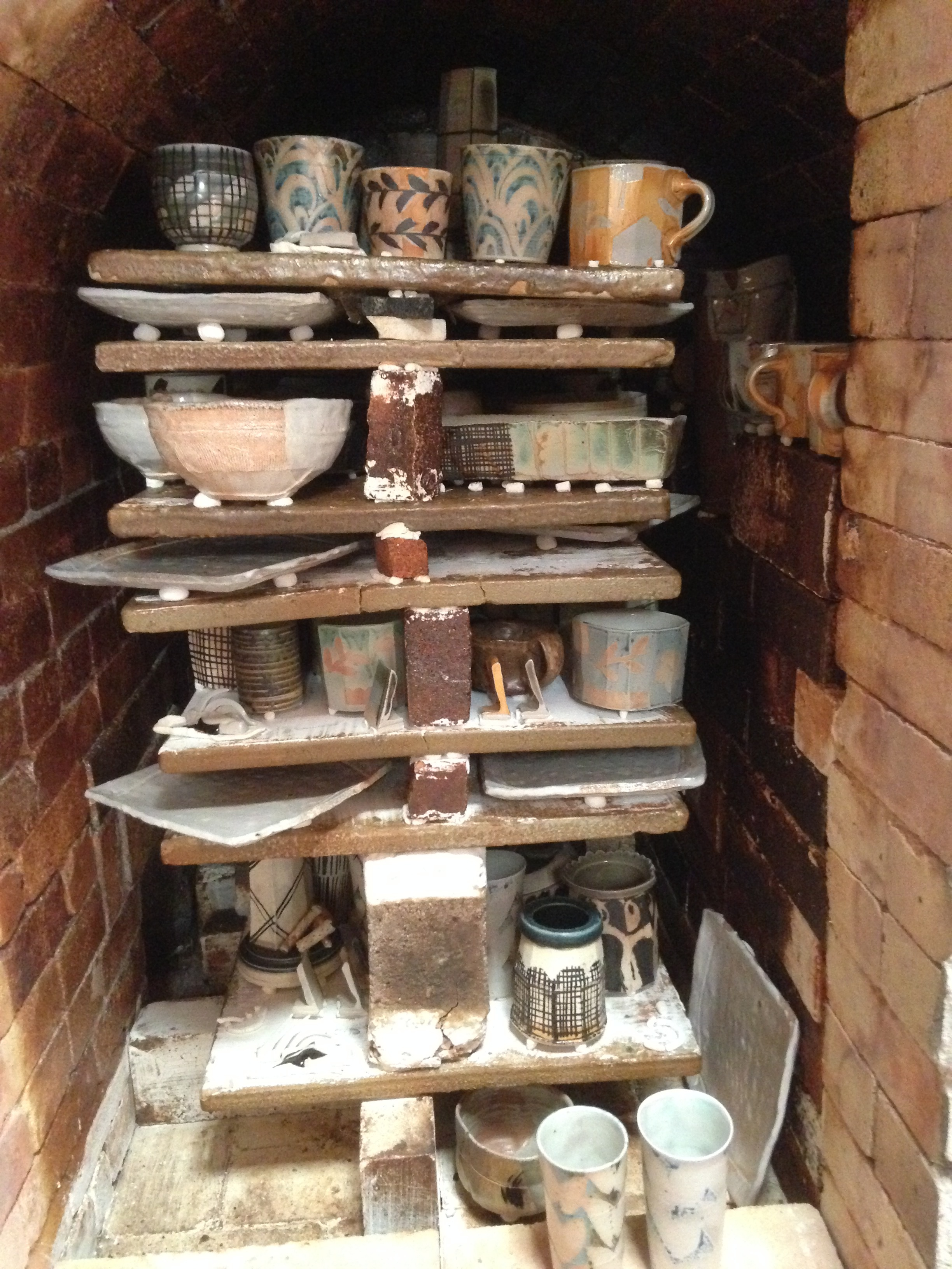 HP Bloomer & Scott Parady's second firing of the Soda Kiln in November