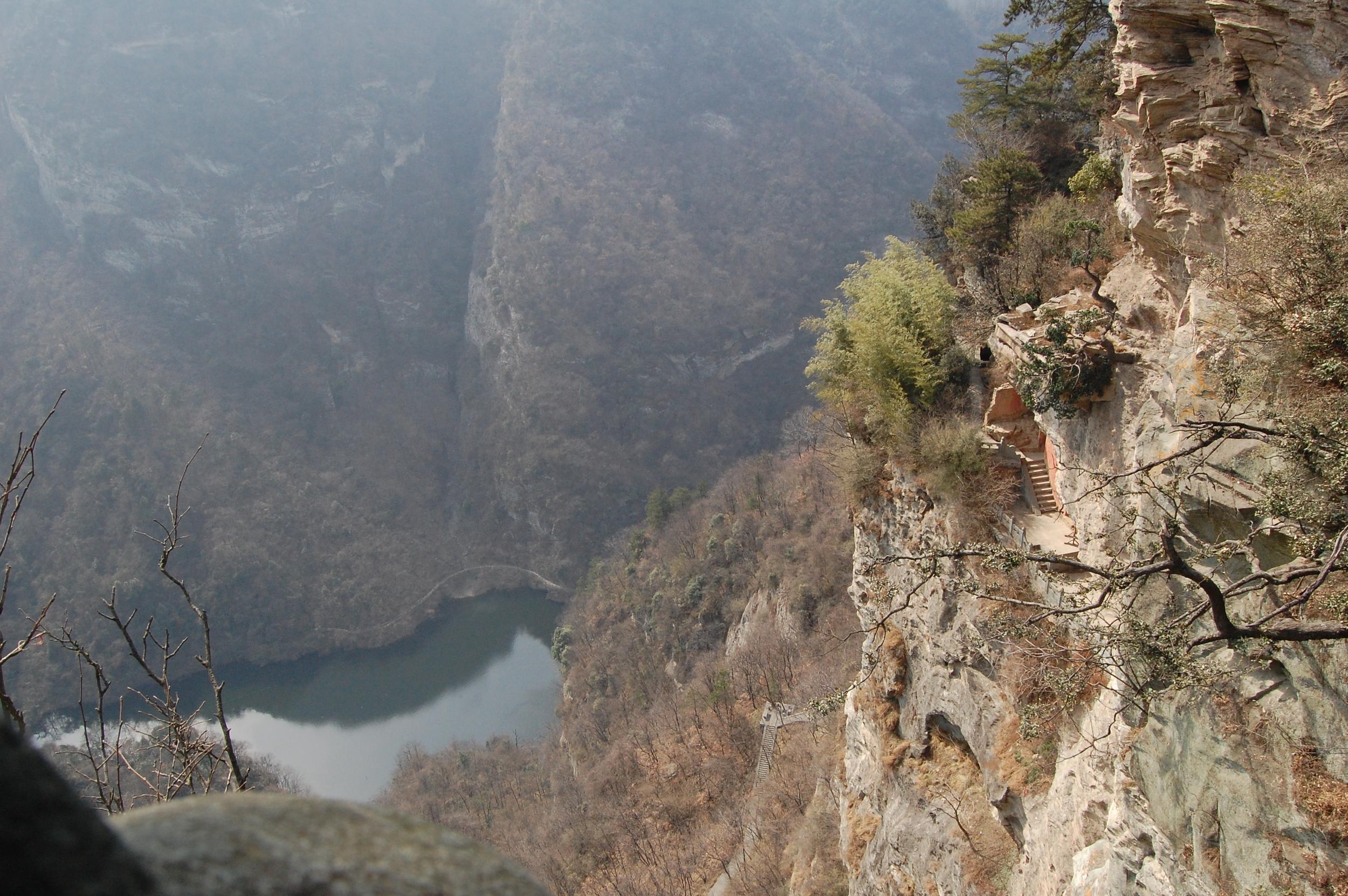Cliff stairs at Wudang Mountain, China
