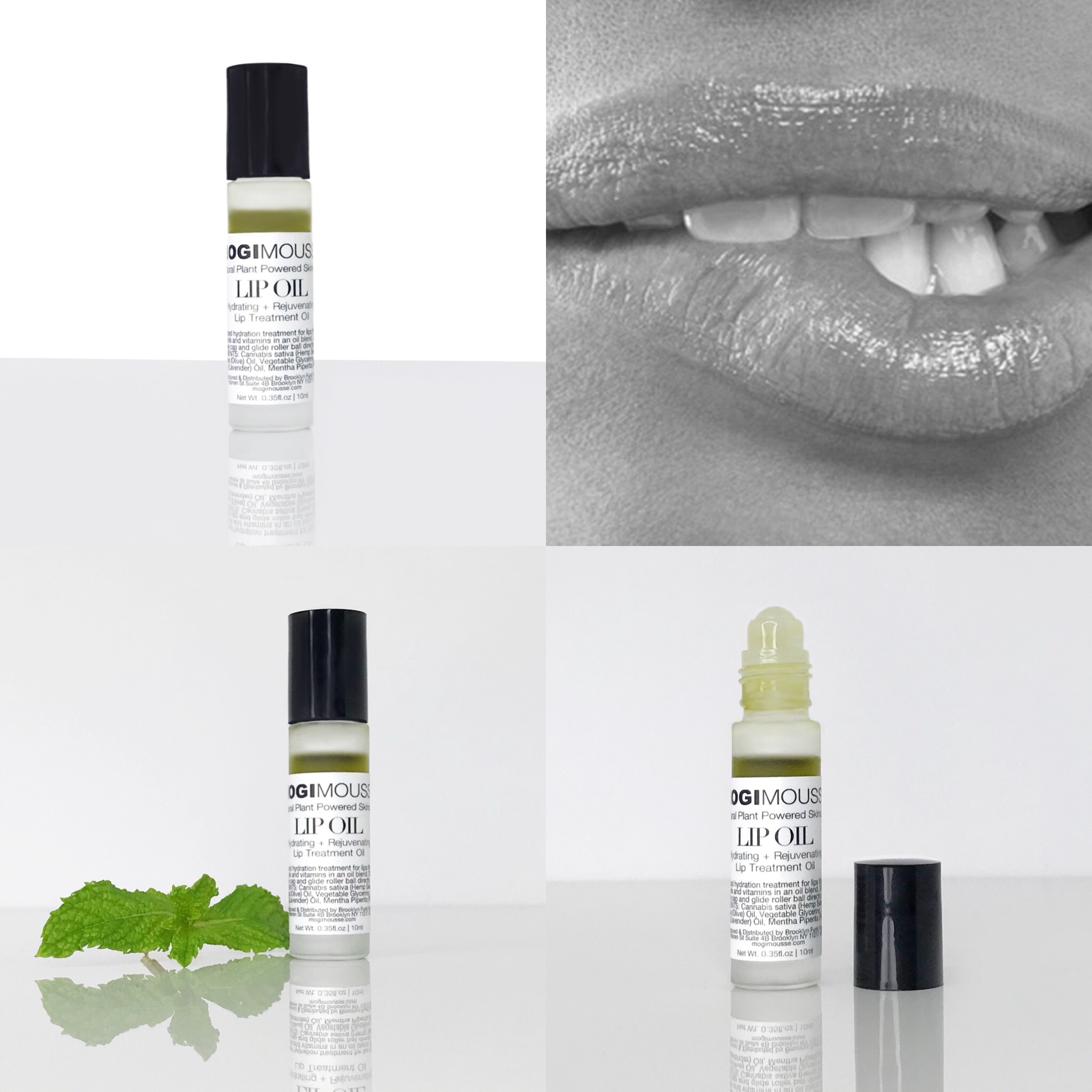 We are happy to announce the launch of our Lip Treatment Oil: MOGI MOUSSE® Lip Oil is an all natural, vegan, and cruelty-free product. Our 100% plant based lip treatment oil is packed with antioxidants, a blend of precious, nourishing pure oils that help heal, repair, and protect your lips. It is water free and wax free, and offers deep hydration without the stickiness. Enjoy an easy application with our premium glass container with gliding roller ball , and have beautiful soft and smooth lips.