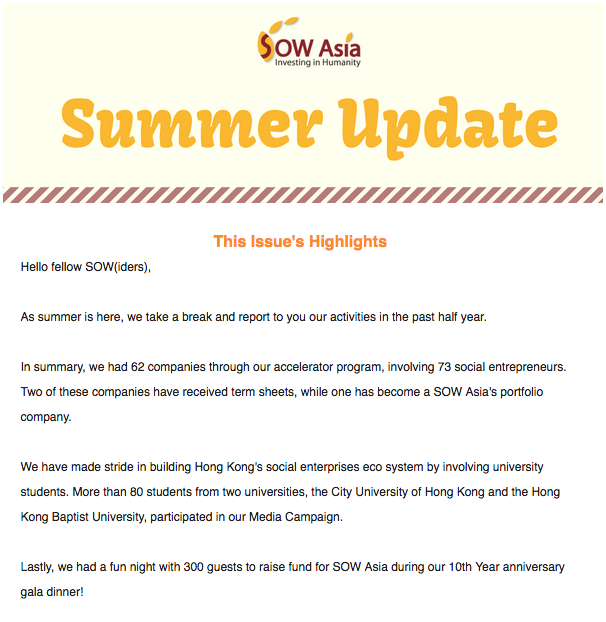 SOW Asia Newsletter - July 2018 — SOW Asia