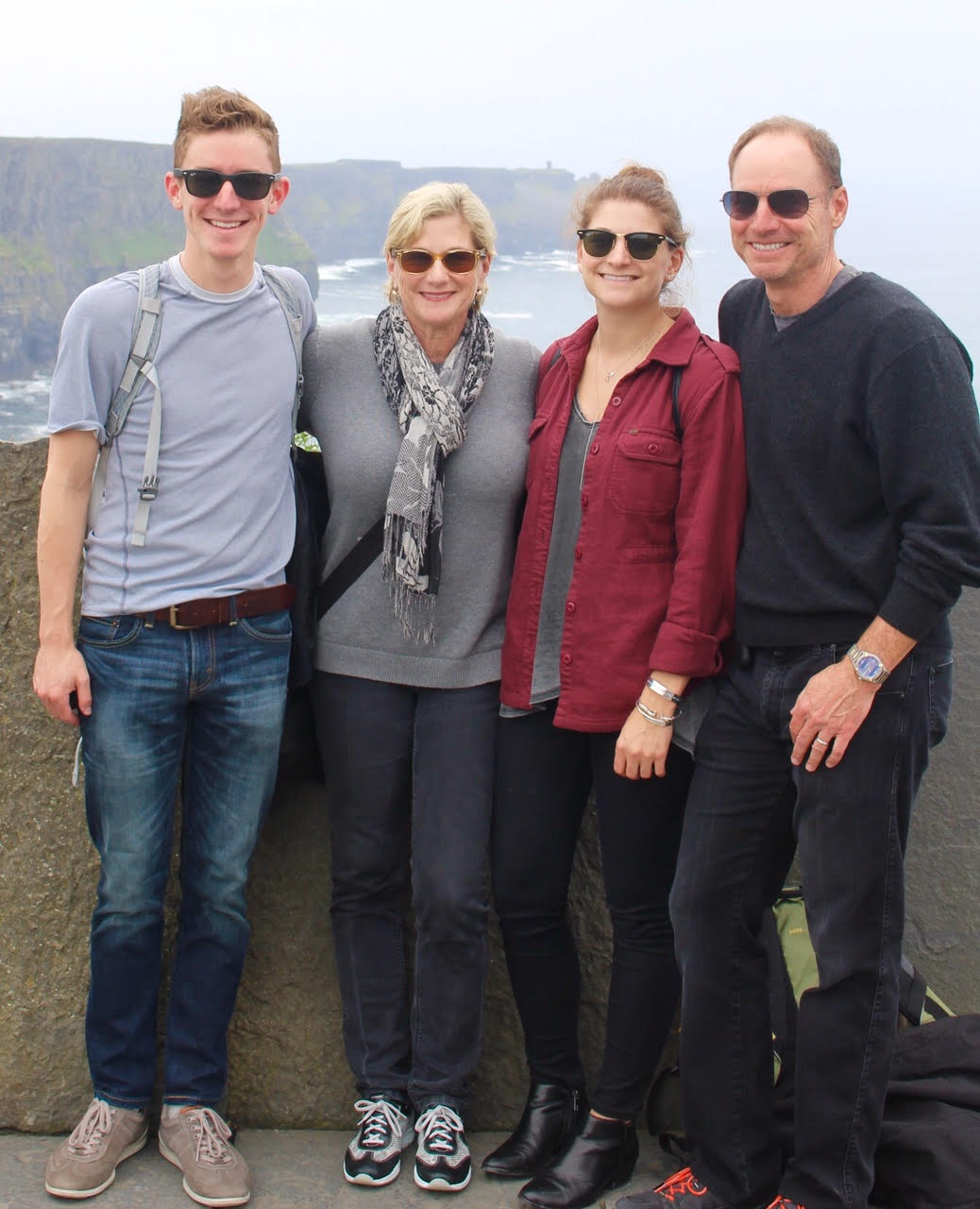 The family at the Cliffs of Moher