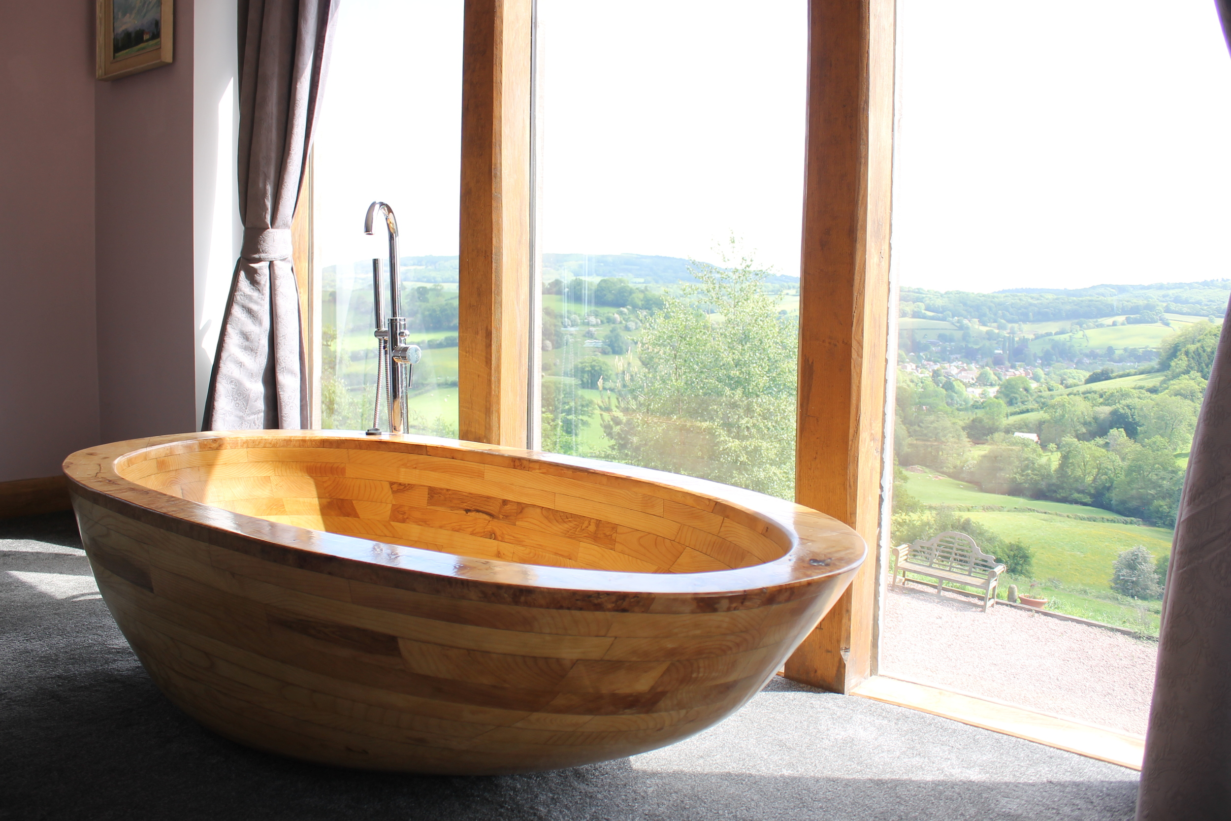 Oviod - Solid Ash and Burr Maple Bath