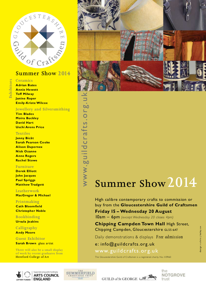 Gloucestershire Guild of Craftsman - Summer Show Chipping Campden 2014