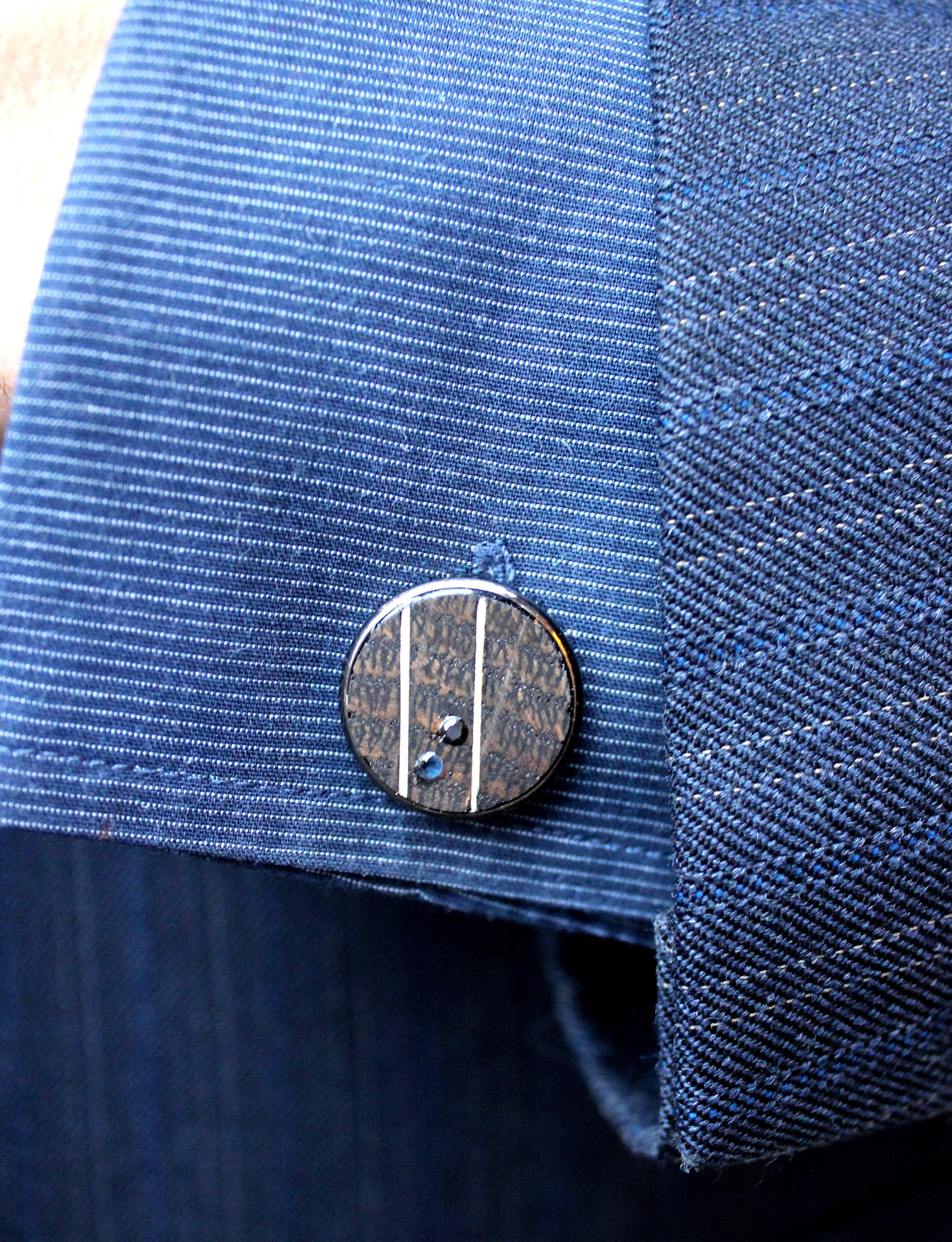 Cufflink - Black (on cuff).JPG
