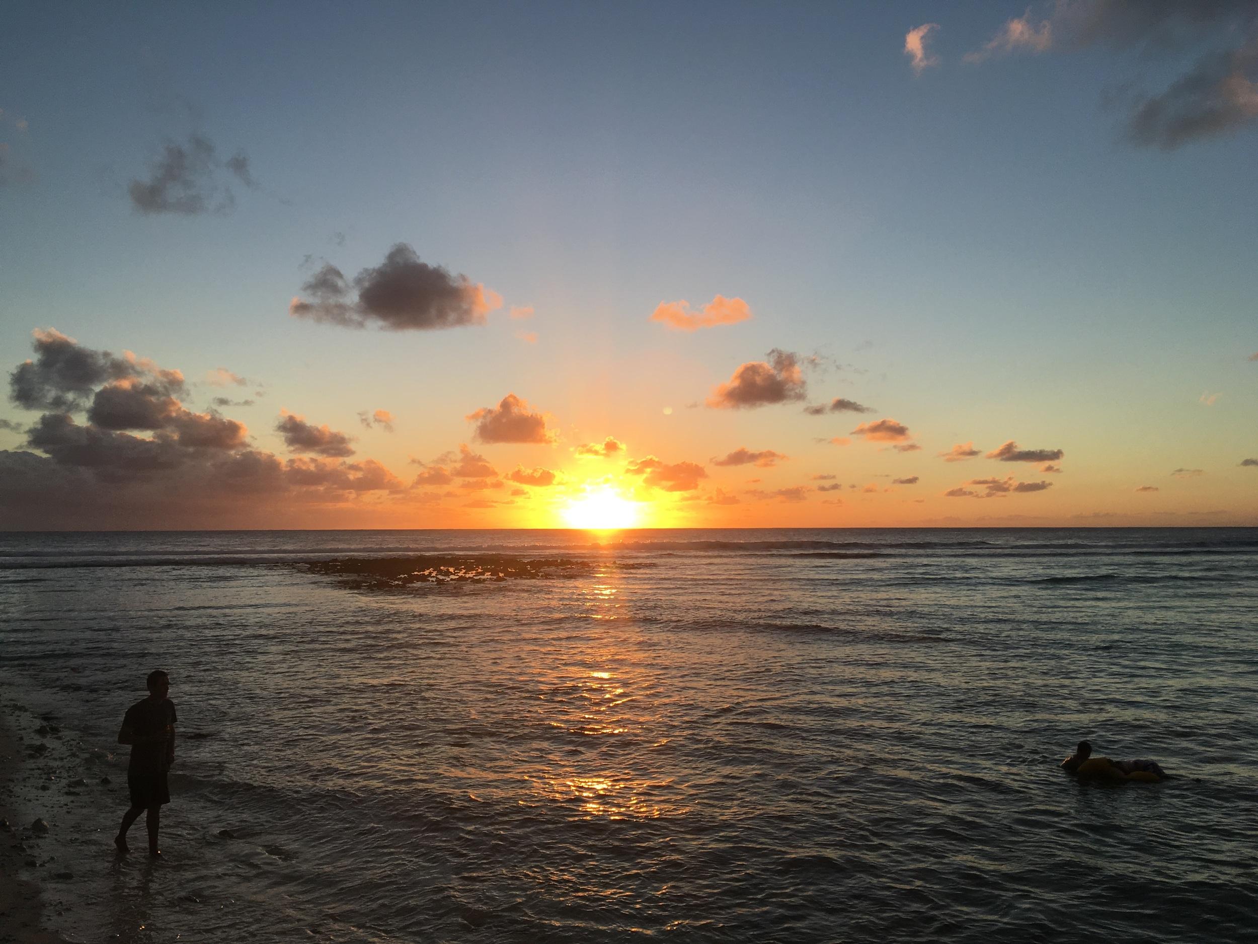 Sunset at Trannies Beach. Photo: Sian Pritchard