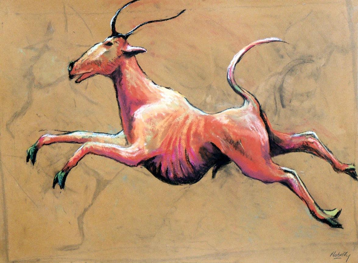 Leaping bull