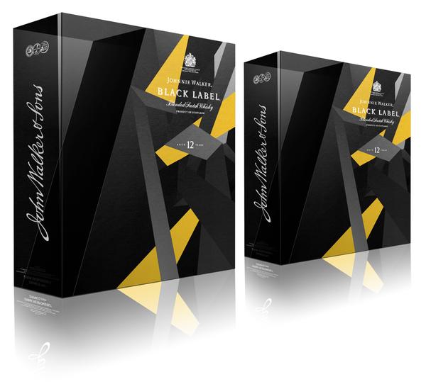 Johnny Walker Black Label Gift Pack Design