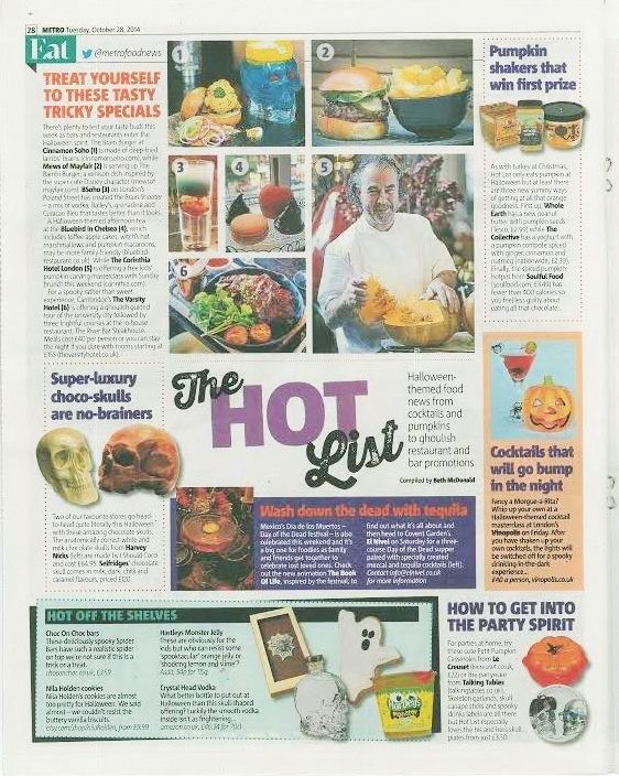 El Nivel's Day of the Dead Supper in Metro's Hot List