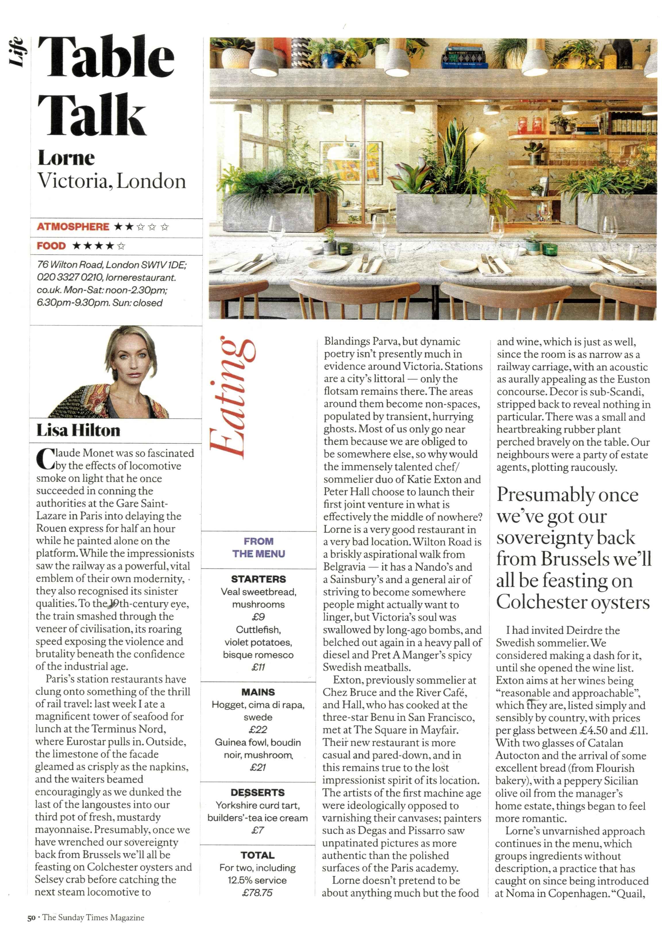 Sunday Times Magazine - Lorne Restaurant - Feature (1) - April Issue 2017.jpg
