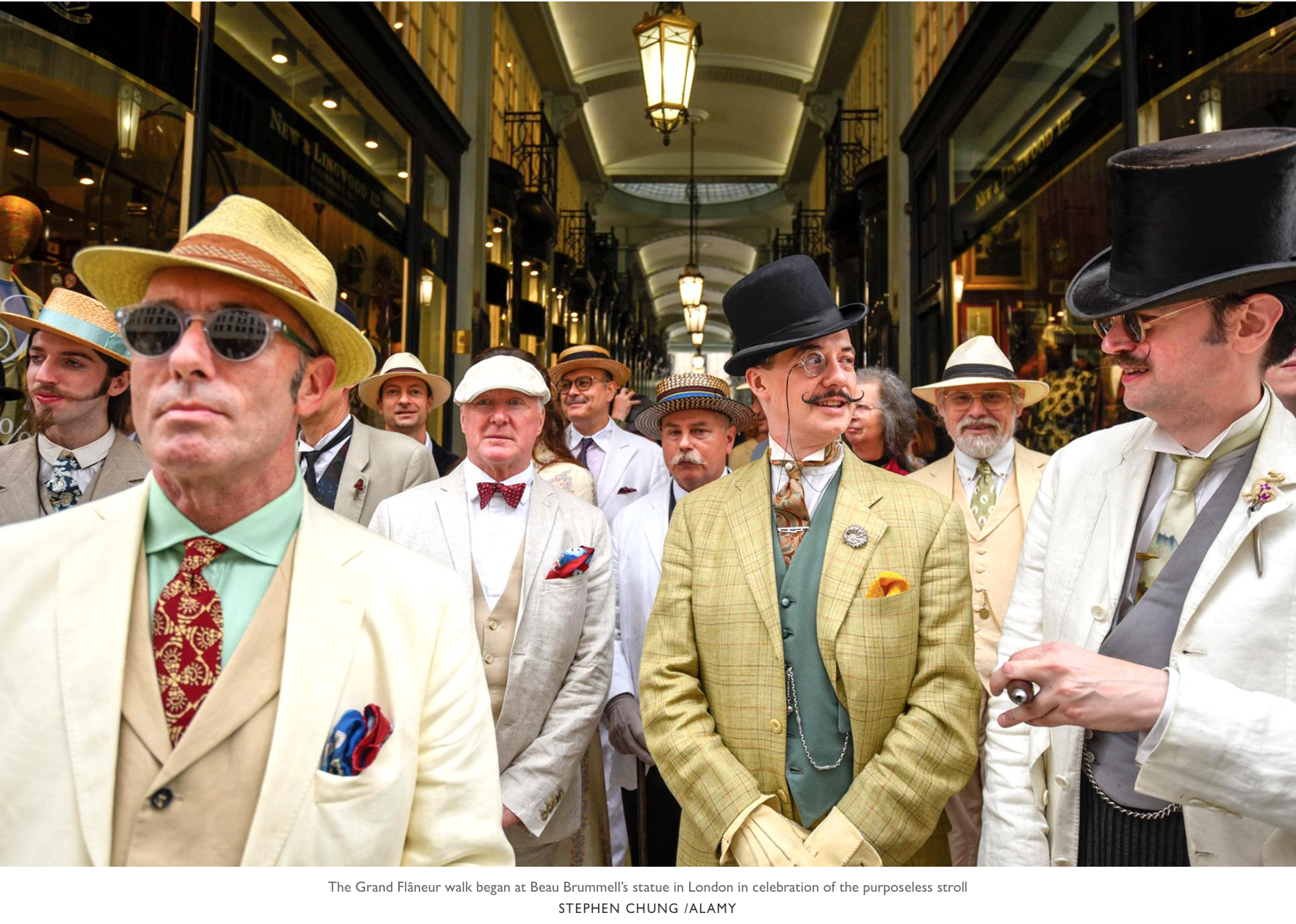 The Times  featured this dapper picture in their 'News in Pictures' round-up