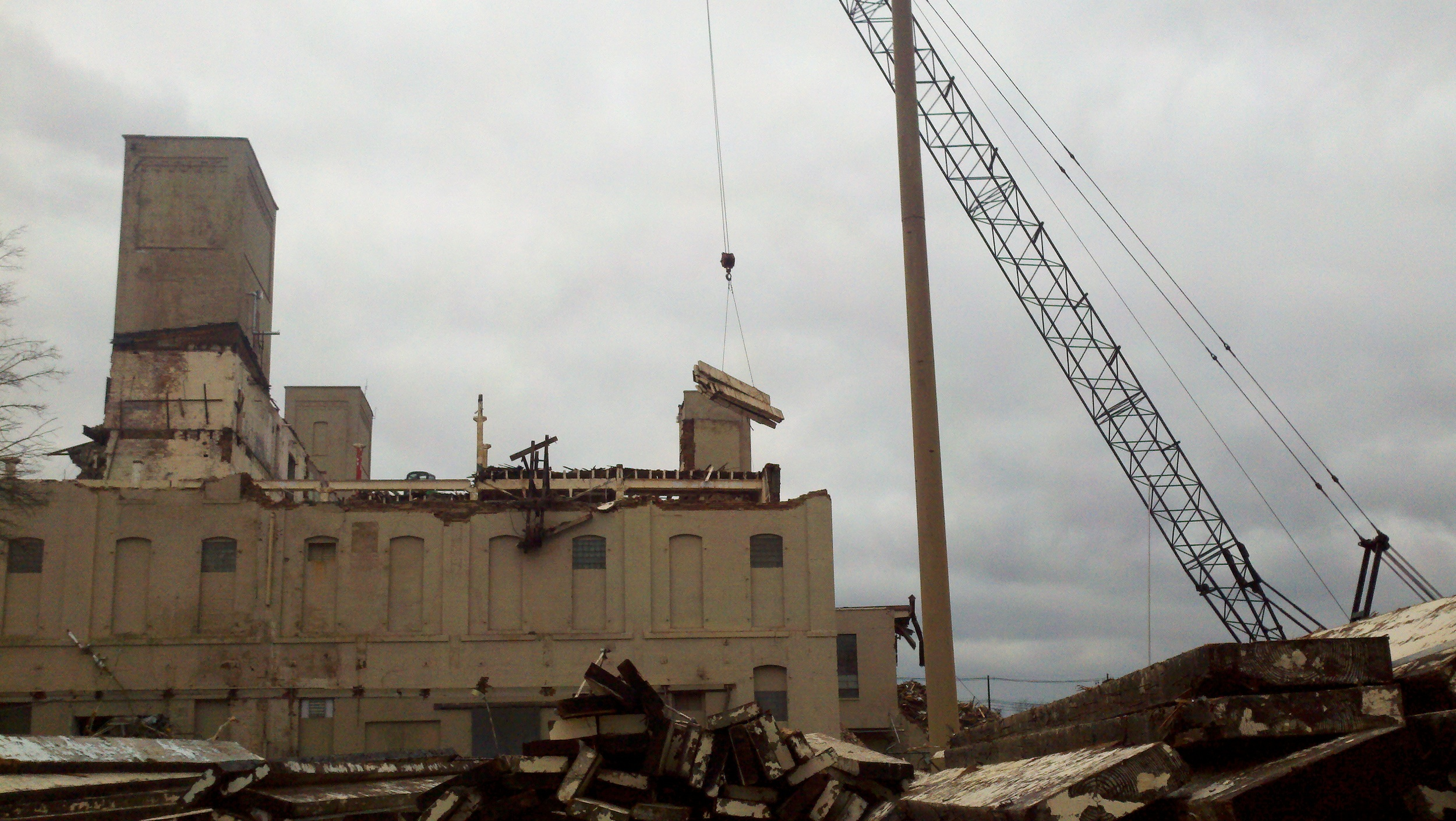 Demolition of Phillip Morris Factory, Louisville, KY.