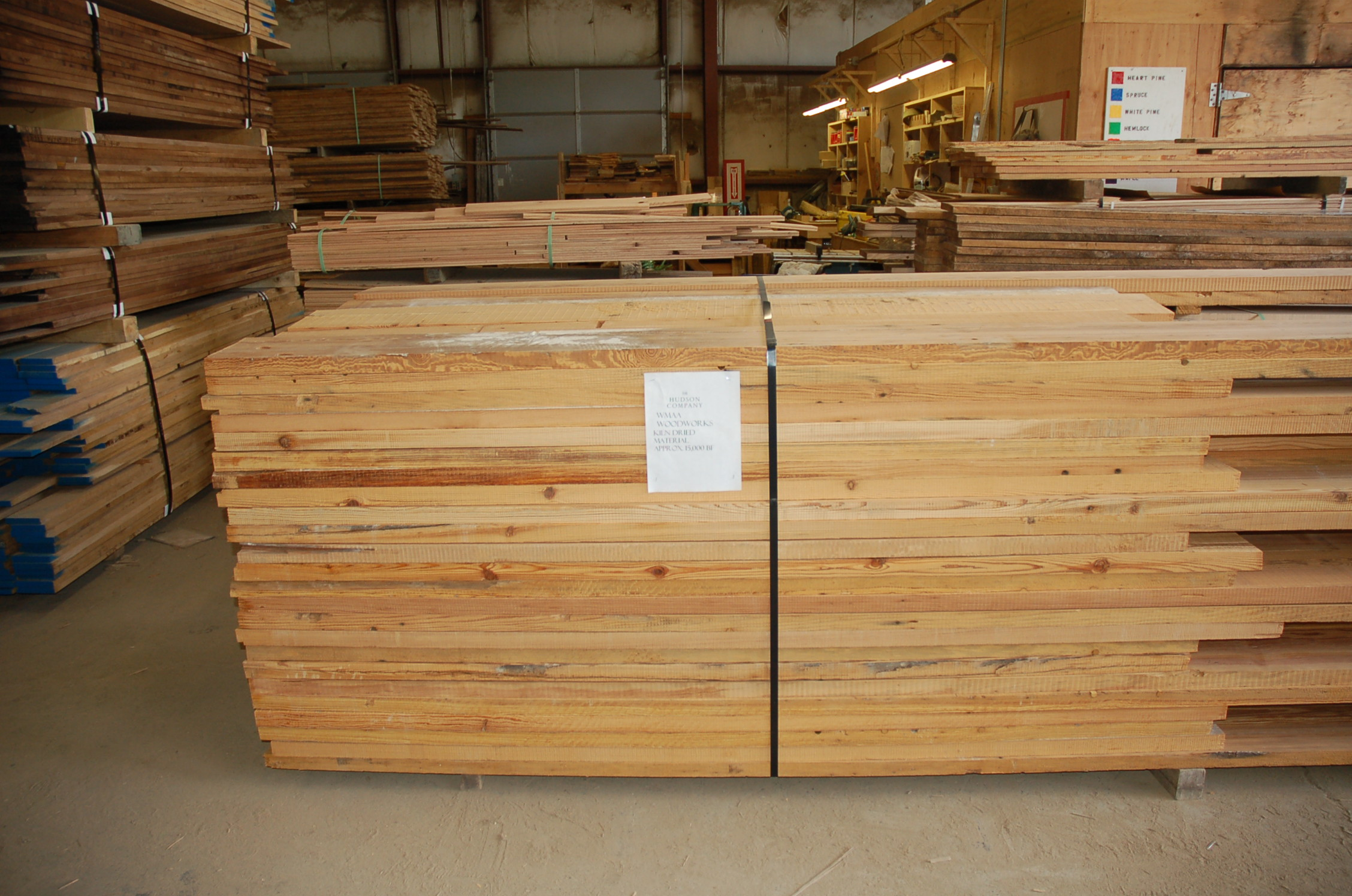 Kiln-dryed timbers, ready to be custom milled for The Whitney Museum of American Art.