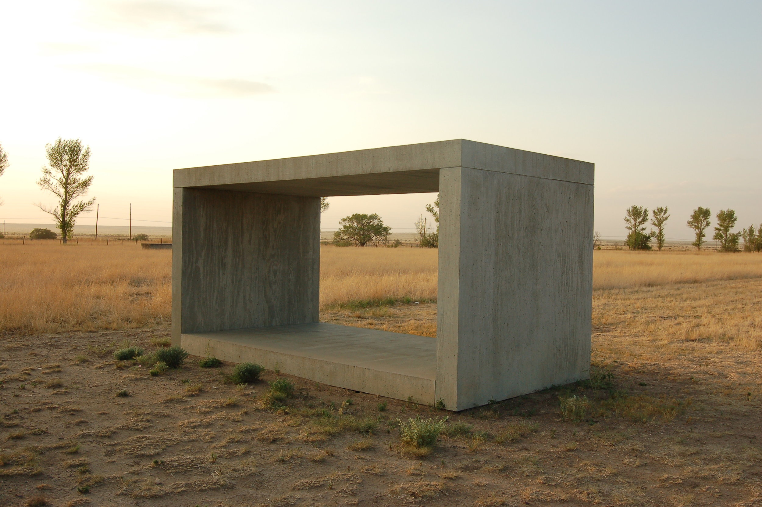 Donald Judd, Untitled Works in Concrete: Chinati Foundation, Marfa, Texas,   1984.
