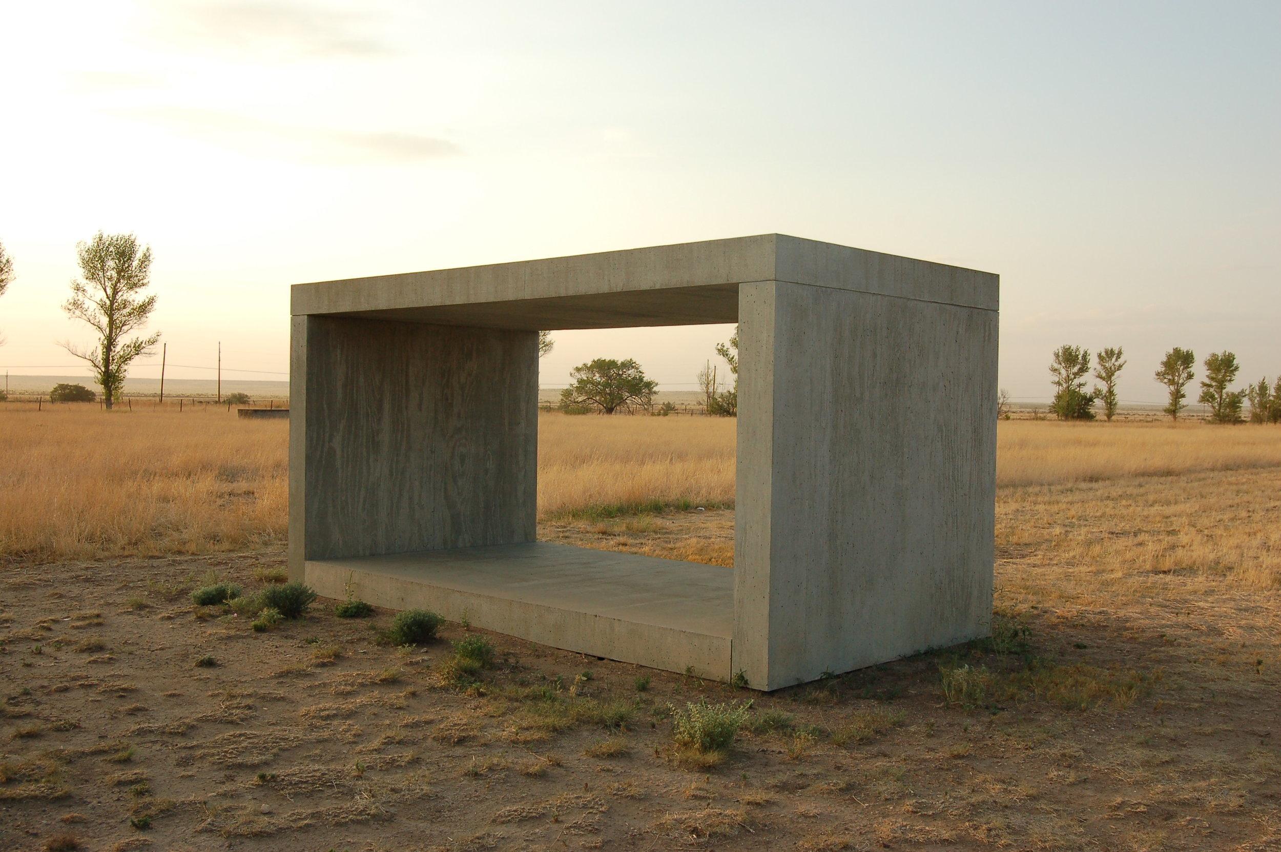Donald Judd, Untitled Works in Concrete:Chinati Foundation,Marfa,Texas,  1984.