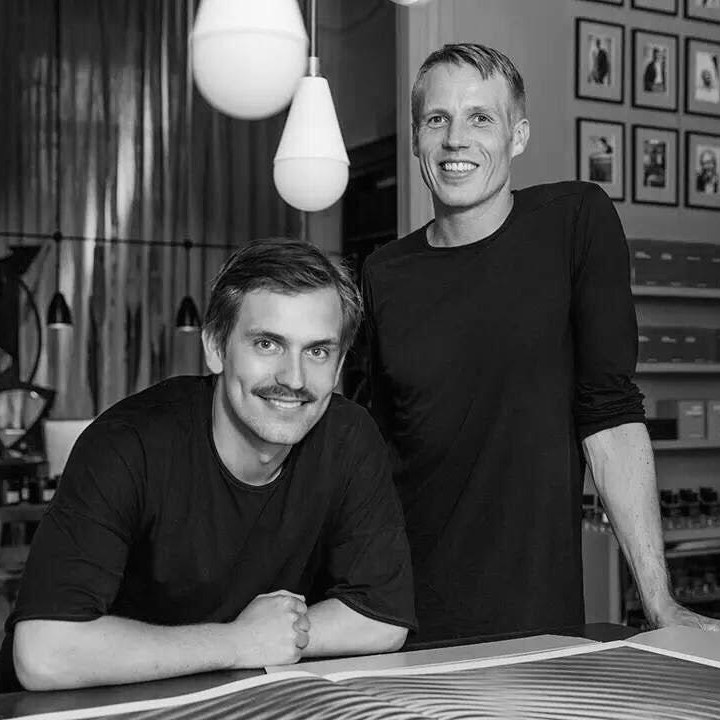 Peter Steffensen, Editor In Chief (pictured at right) and Art Director  Benjamin Wernery of  Plethora Magazine.