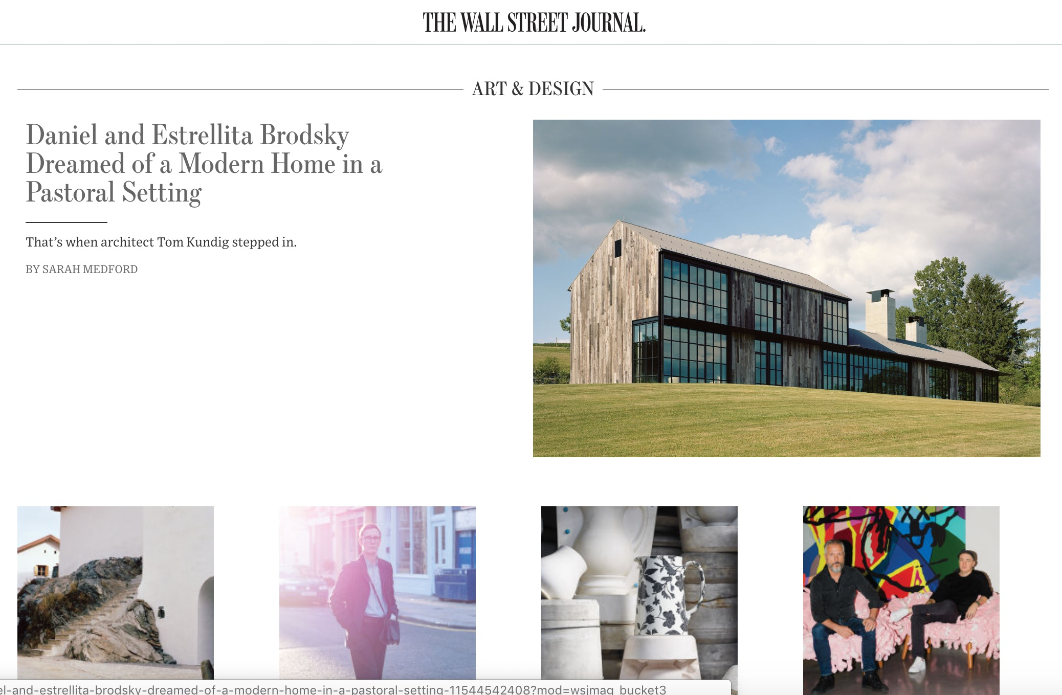 From the  Wall Street Journal  homepage, Dec 17. Project photos by    François Coquerel    for the  Wall Street Journal.  Click the image to read the full profile.