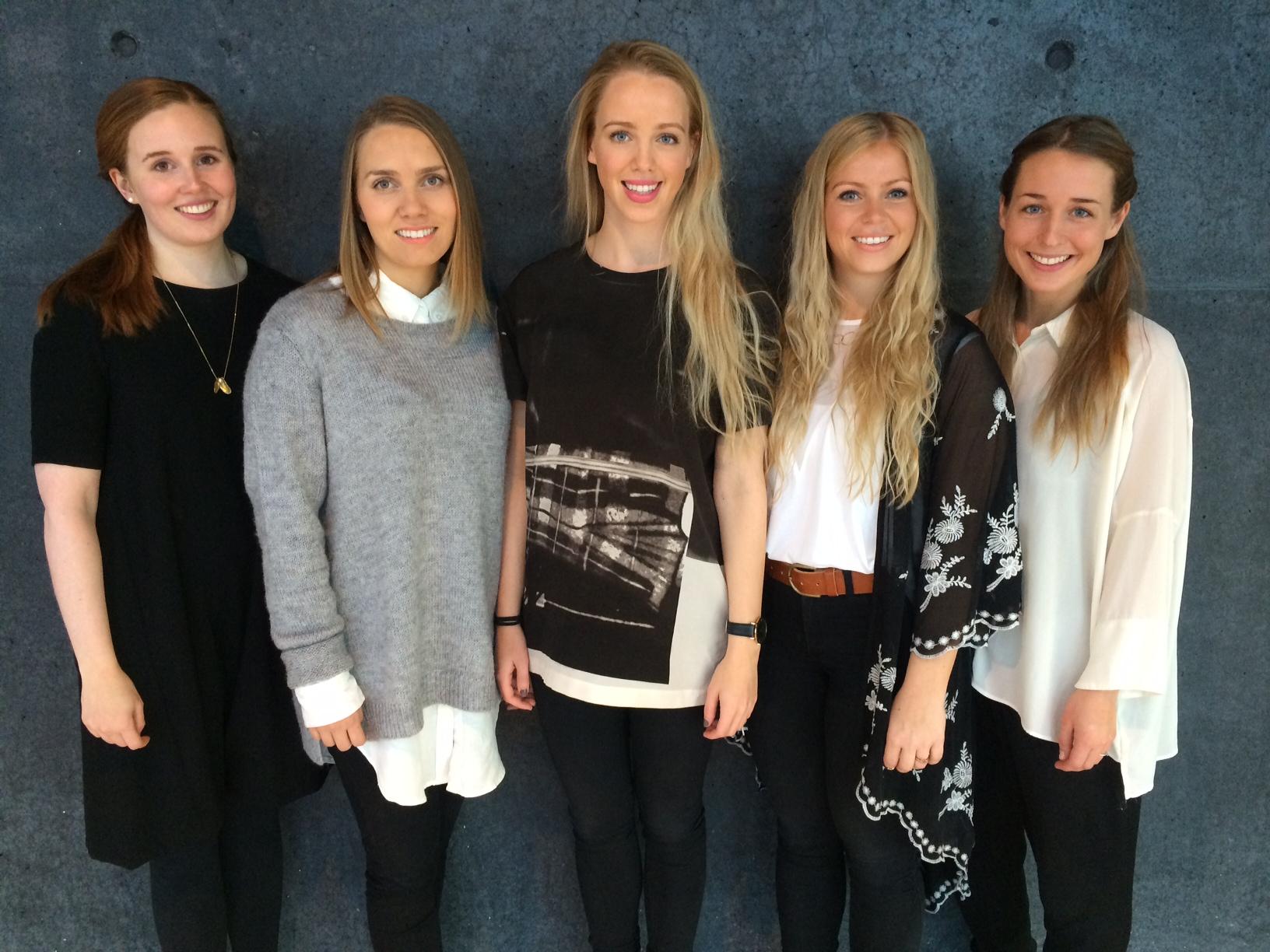 Frá vinstri: Kristel Finnbogadóttir, Rakel Guðmundsdóttir, Lilja Gylfadóttir, Karen Ósk Gylfadóttir og Andrea Karlsdóttir.