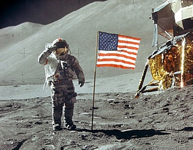 Is this picture taken on the Moon or inside a studio?