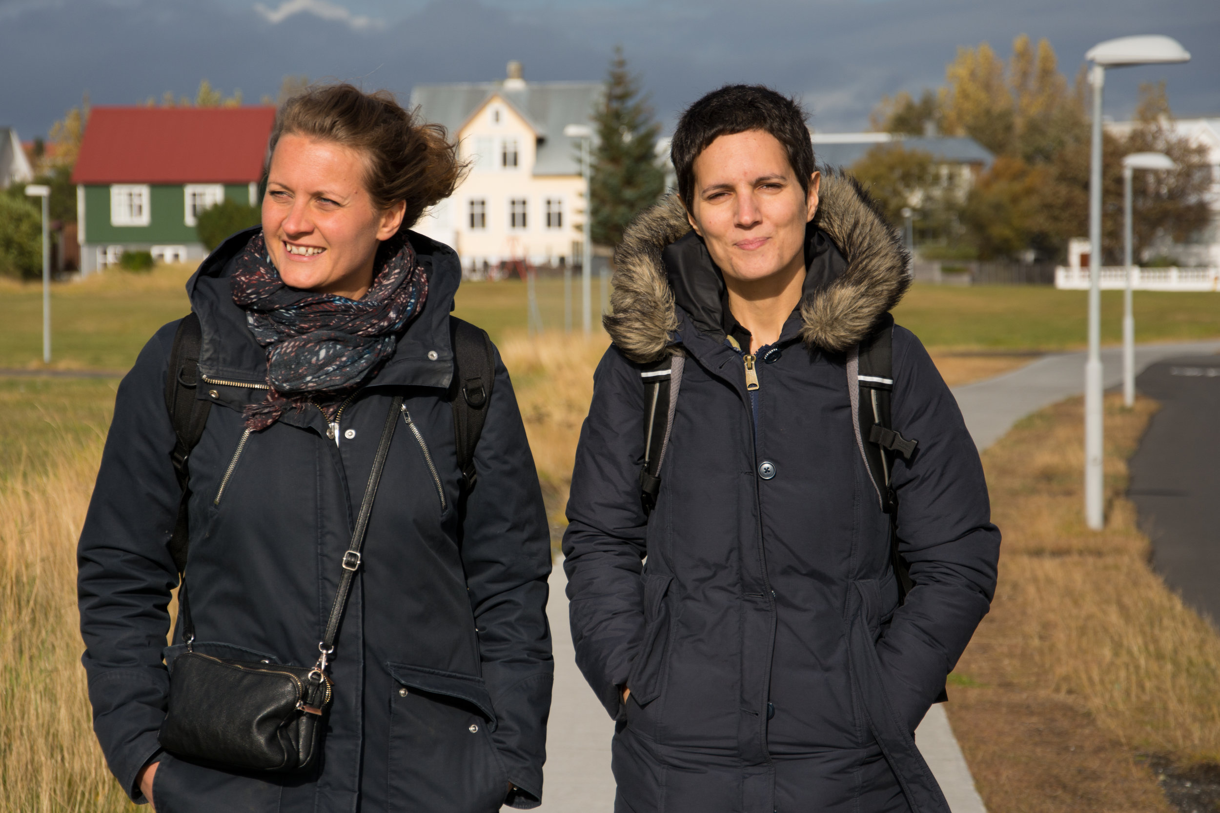 Suzanne from France and Lisa from Sweden are two of those who decided to face the challenge of learning Icelandic.  Photo/Claudia Kerns