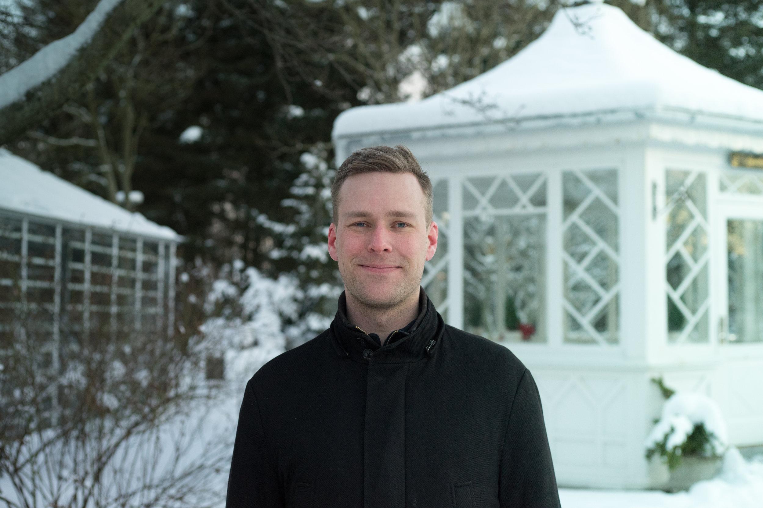 Pétur Halldórsson, formaður Ungra umhverfissinna.  Stúdentablaðið/Eydís María Ólafsdóttir