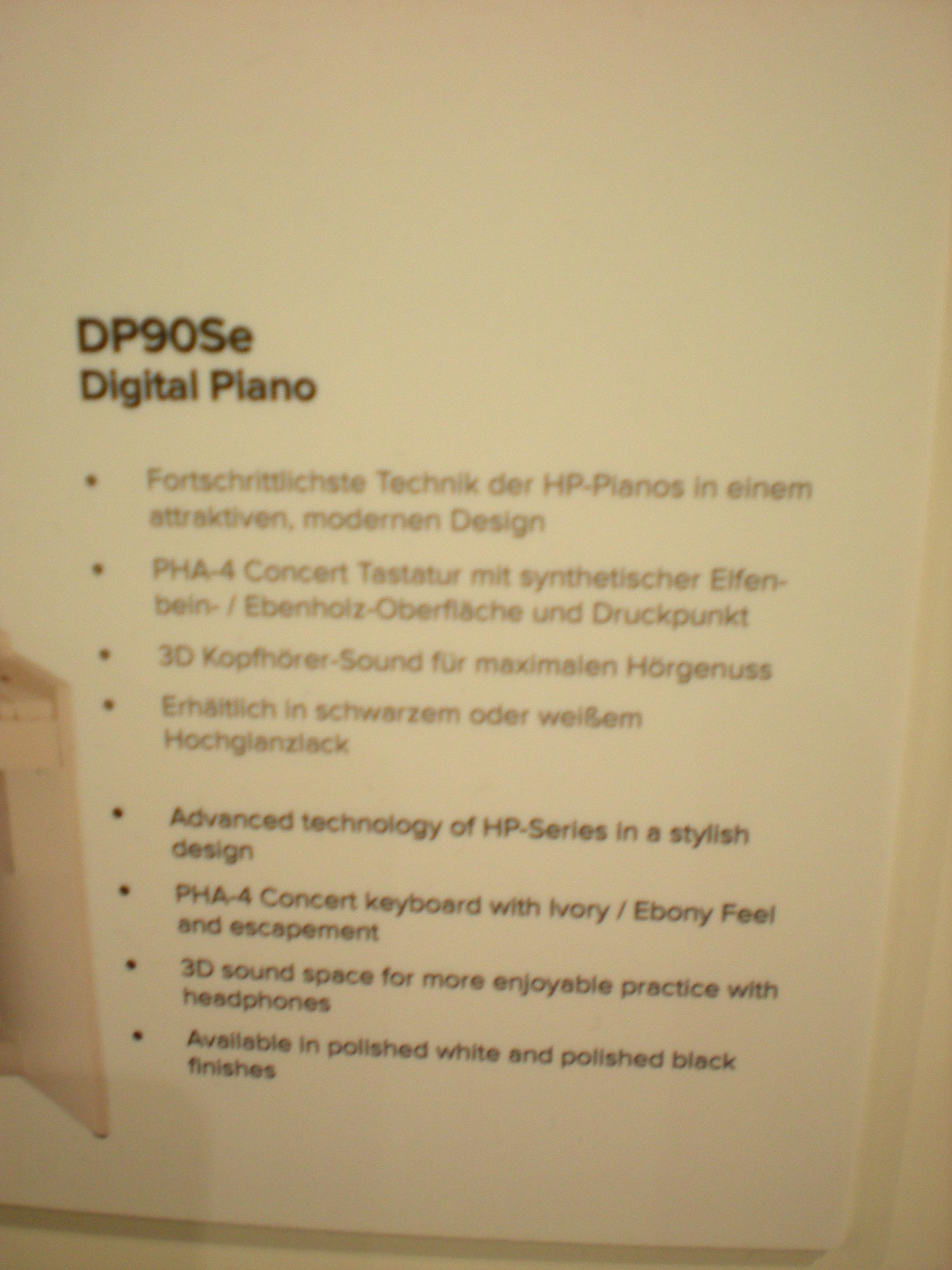 Roland DP90Se - specyfikacje