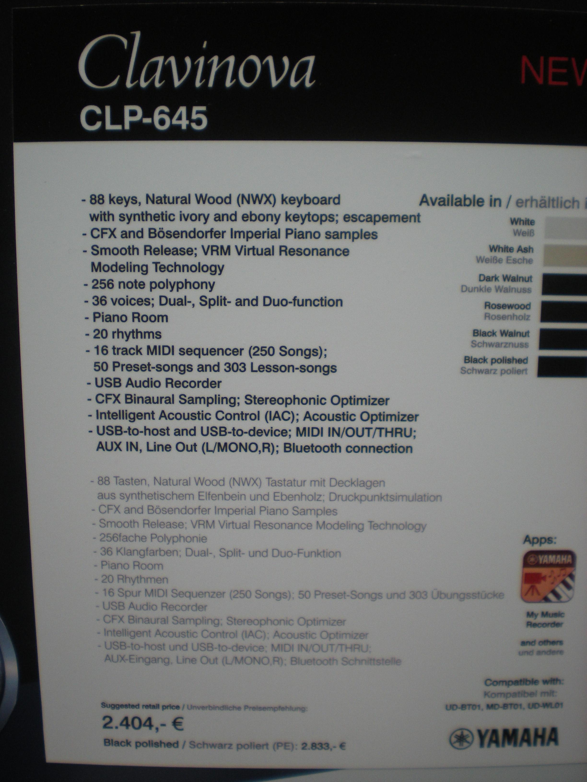 CLP-645 - specyfikacje