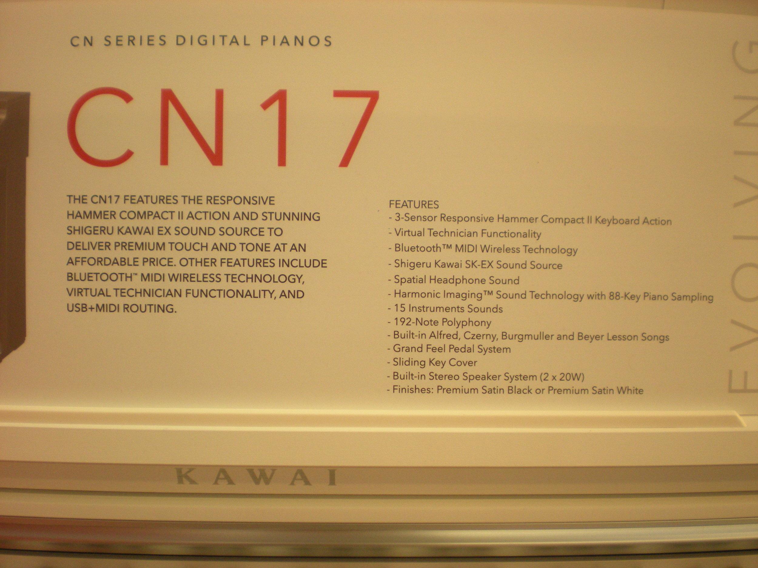Kawai CN17 - specyfikacja
