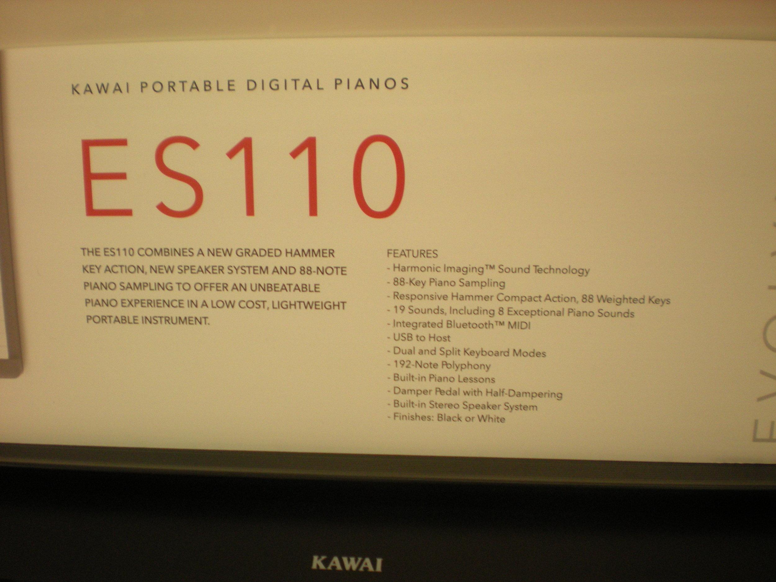 Kawai ES110 - specyfikacja