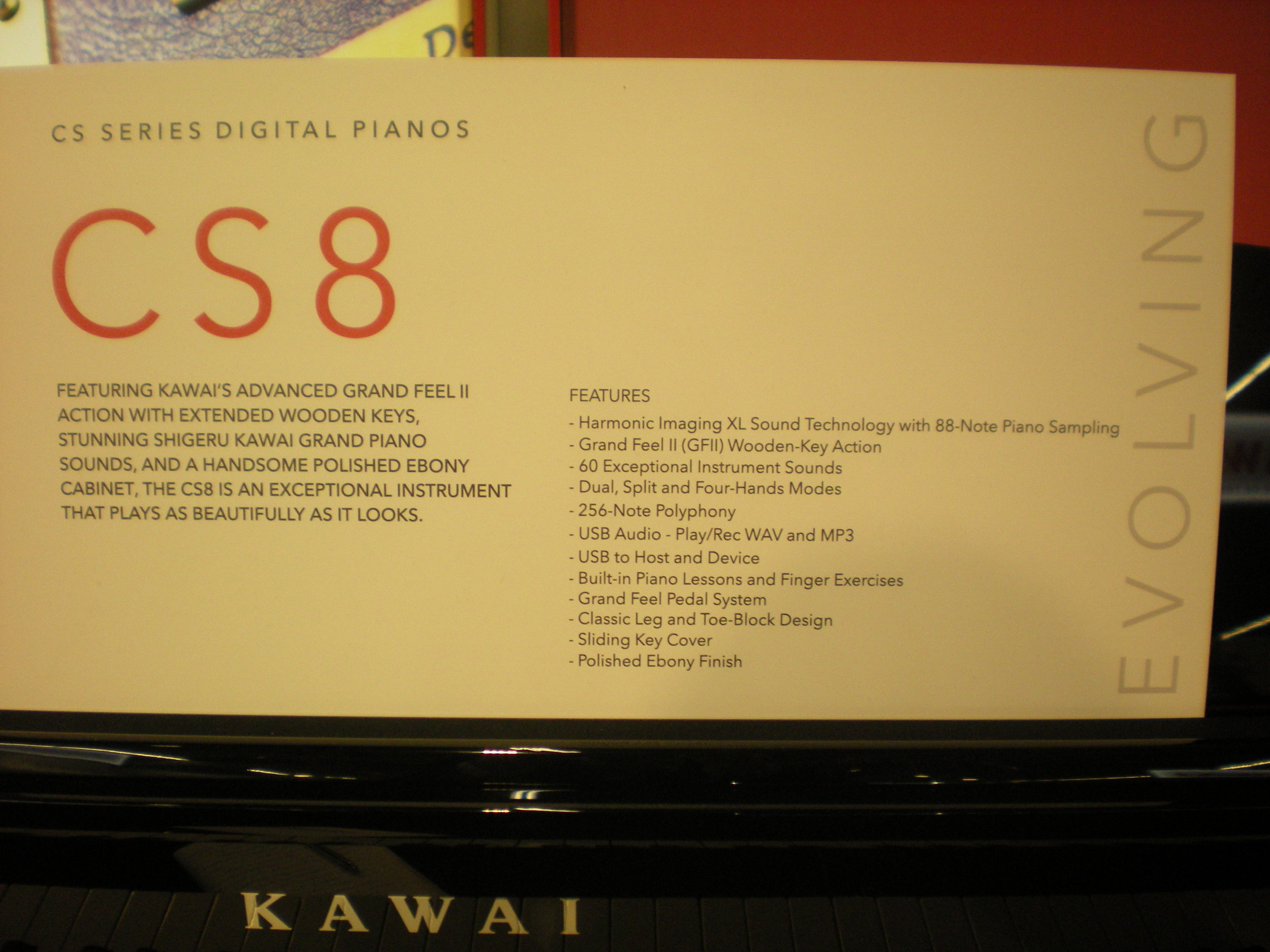 Kawai CS8 - specyfikacja