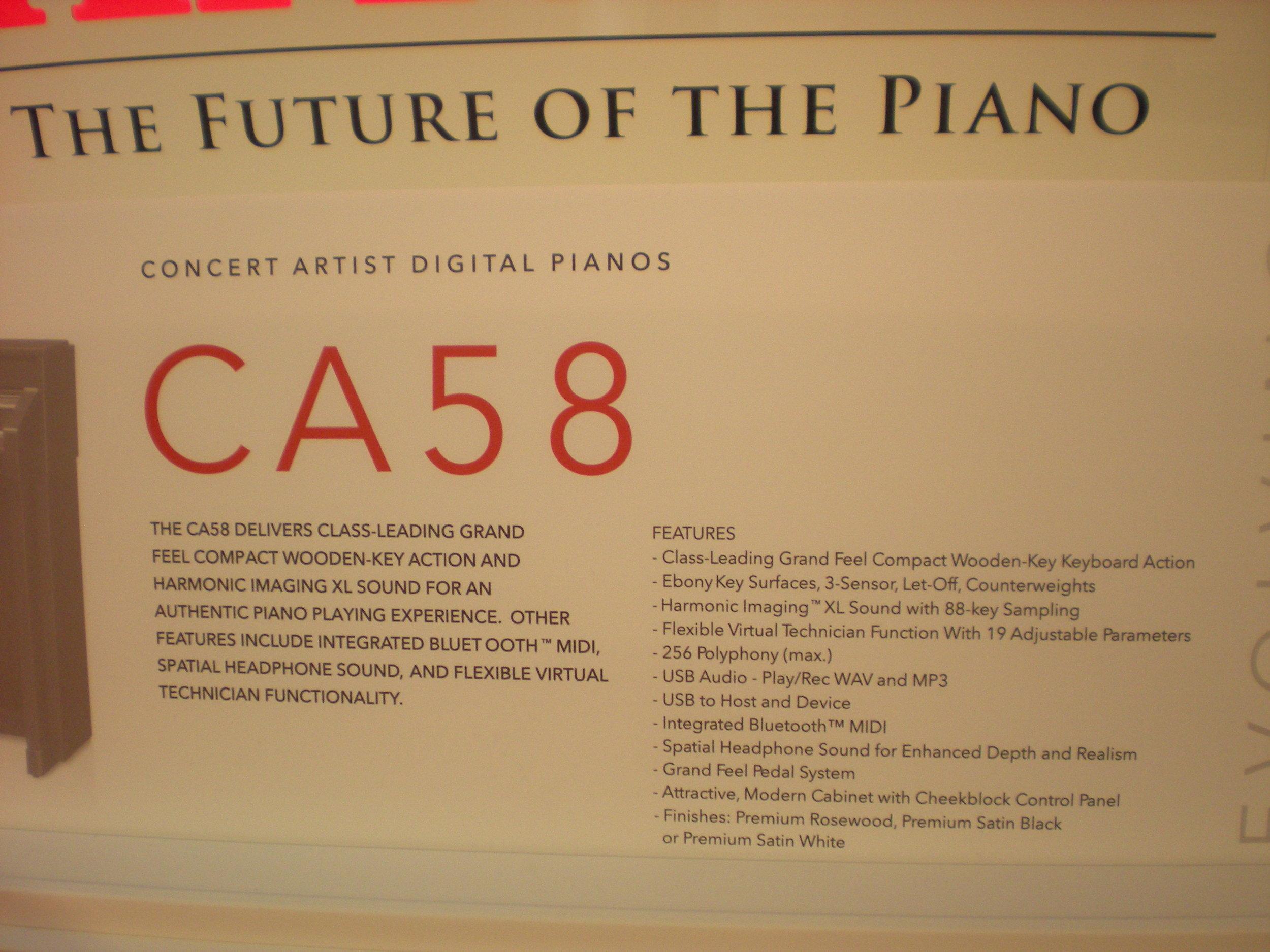 Kawai CA58 - specyfikacja
