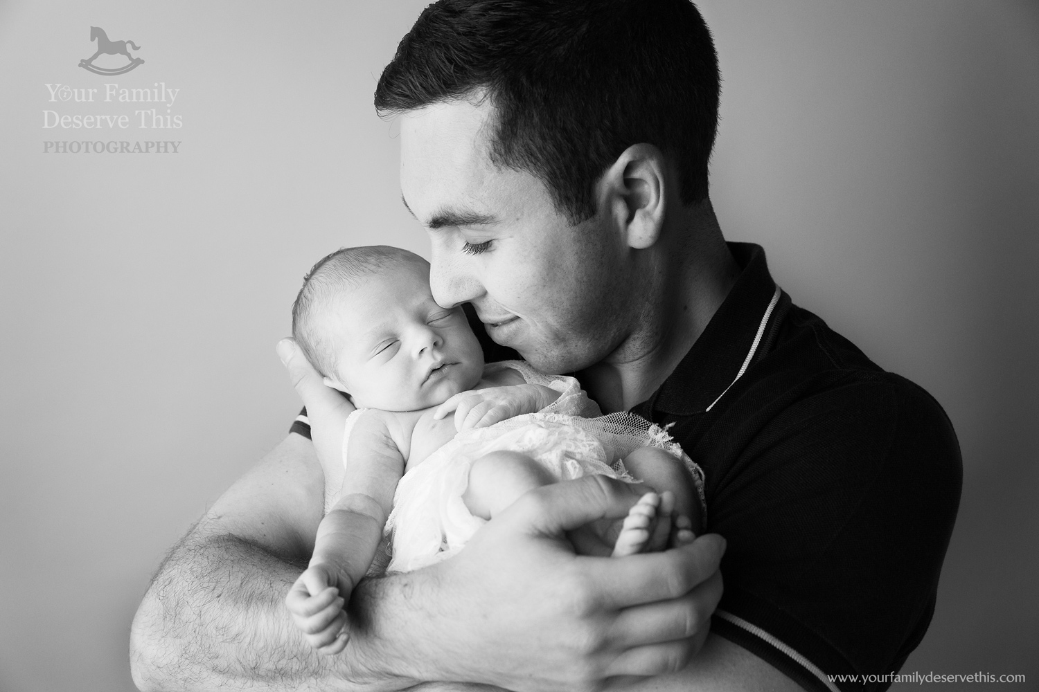 Dad and brand new Daughter, so proud of his little one... Newborn Photoshoot  www.yourfamilydeservethis.com