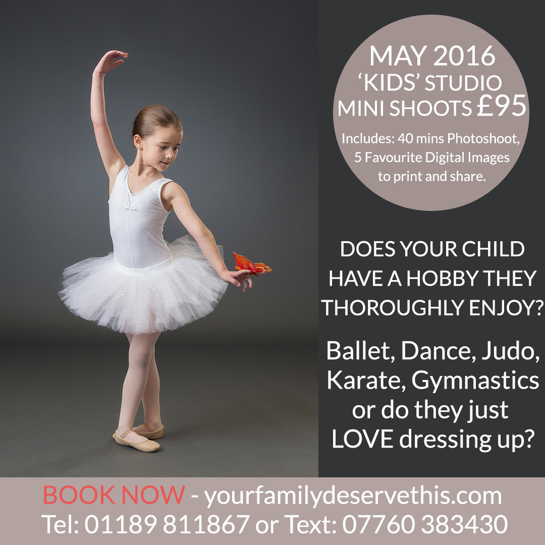 Ballet, Street Dance, Judo, Karate, Rugby, Football, Gymnastics - What does your child love to do? Our KIDS STUDIO MINI SHOOTS are perfect for celebrating their achievements in Sport or their Hobbies. Fairies and Superheroes welcome too! Find out more at  yourfamilydeservethis.com