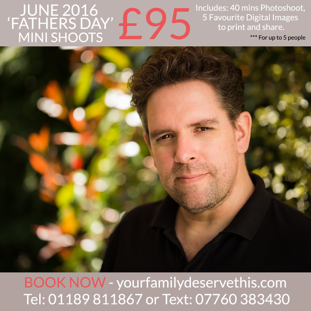 Not sure what to get Dad for Father's Day this year. Book an individual or family minishoot as a gift. Dad's deserve gorgeous portraits too. Contact us for more information at  yourfamilydeservethis.com