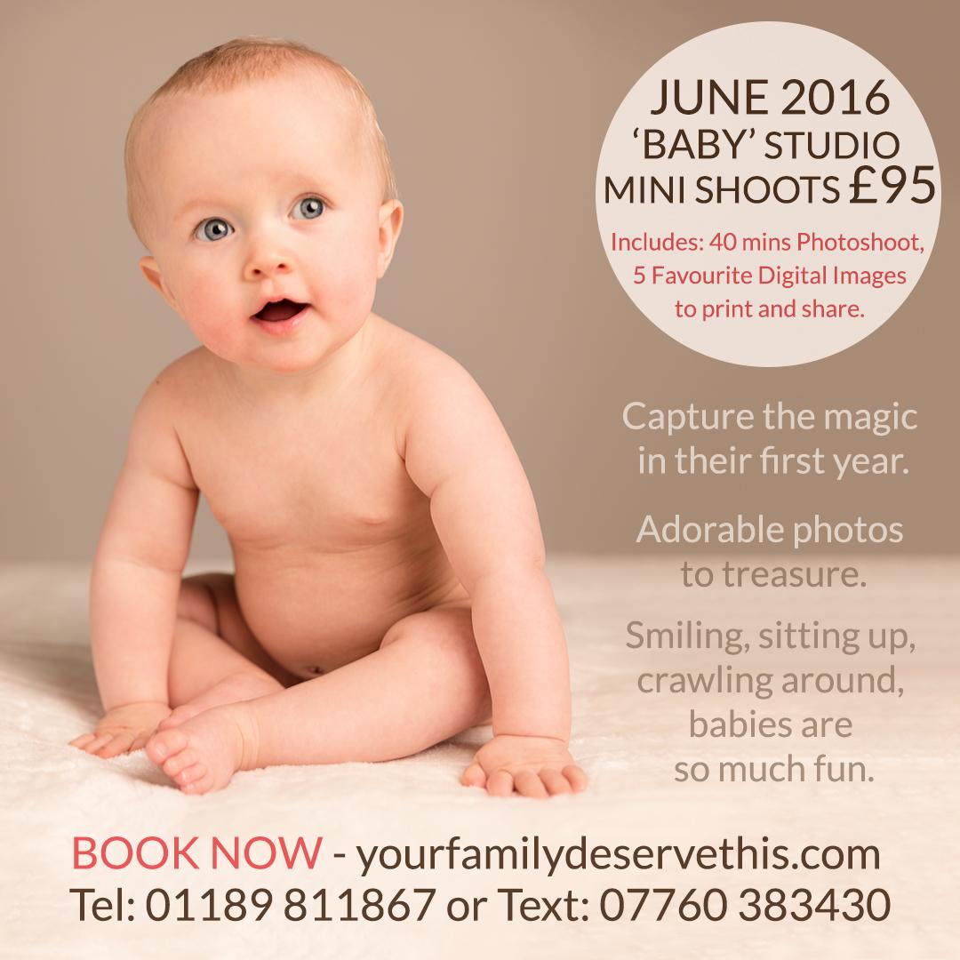 Baby Mini Photoshoots JUNE, Hampshire UK. BOOK NOW at   yourfamilydeservethis.com